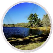 A Day To Ponder Round Beach Towel