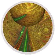 A Different Planet Round Beach Towel