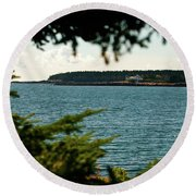 A Distant Light Round Beach Towel