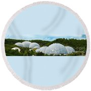 A Dome Away From Dome Round Beach Towel