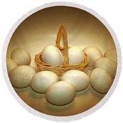 A Dozen Eggs II Round Beach Towel