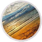 A Dream At The Beach Round Beach Towel