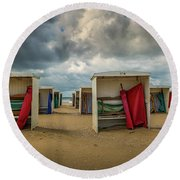 A Dutch Summer At The Beach Round Beach Towel