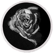 A Fading Rose Round Beach Towel