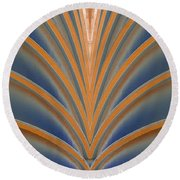 A Fan Of Art Deco Round Beach Towel