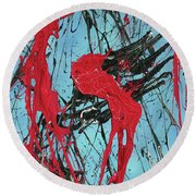 A Fear Of Vampires Round Beach Towel