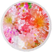 A February Abstract Round Beach Towel