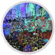 A Field Of Flowers Round Beach Towel