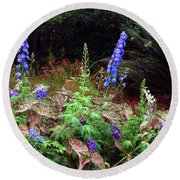 A Field Of Wildflowers Round Beach Towel