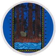 A Forest Whispers Round Beach Towel