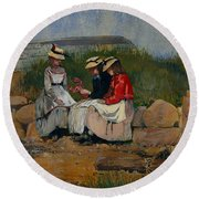A Fisherman's Daughter Round Beach Towel