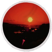 A Flair For Sunsets Round Beach Towel