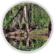 A Florida Riverine Forest 2 Round Beach Towel