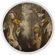 A Forest Overture Round Beach Towel
