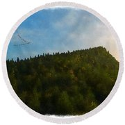 A Forested Dune... Round Beach Towel