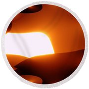 A Fractual Sunrise  Round Beach Towel