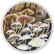A Fungus Amongus Round Beach Towel