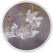 A Gentle Touch Of Spring Round Beach Towel