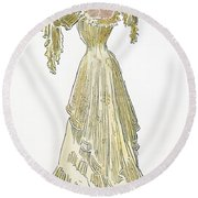 A Gibson Girl, 1903 Round Beach Towel