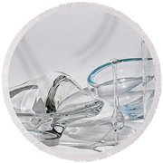 A Glass Menagerie Round Beach Towel