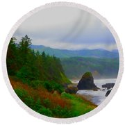 A Glimpse Of Oregon Round Beach Towel