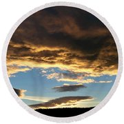 A Glorious End Of Day Round Beach Towel