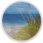 A Good Day For Beachcombing Round Beach Towel