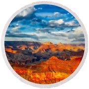 A Grand Canyon Sunset Round Beach Towel