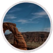 A Great Arch Round Beach Towel