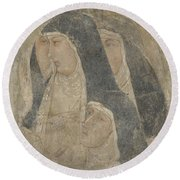 A Group Of Poor Clares Round Beach Towel