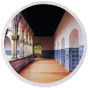 A Hall With History Round Beach Towel