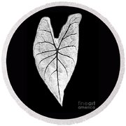 A Heart In Nature Round Beach Towel