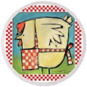 A Hen Is An Eggs Way Round Beach Towel