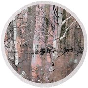 A Hint Of Pink Round Beach Towel