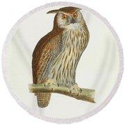 A History Of British Birds. Round Beach Towel