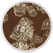 A Holiday Inversion  Round Beach Towel