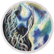 A Horse In My Keeping ... Round Beach Towel