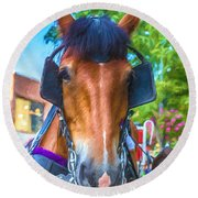 A Horse Of Course Round Beach Towel