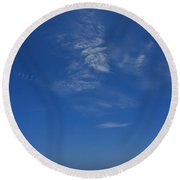 A Hot Afternoon At The Beach Round Beach Towel
