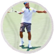 A Hug From Roger Round Beach Towel
