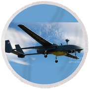 A Hunter Joint Tactical Unmanned Aerial Vehicle Round Beach Towel