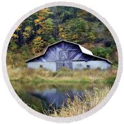 A Is For Autumn Round Beach Towel