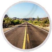 A Journey Through Arizona Round Beach Towel
