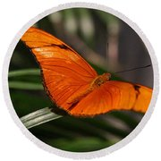 A Julia Butterfly I Round Beach Towel