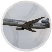 A Kdc-10 Tanker Aircraft Of The Royal Round Beach Towel