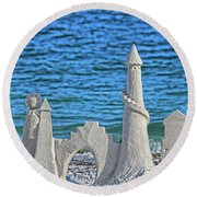 A Kingdom By The Sea Round Beach Towel