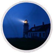 A Light In The Darkness Round Beach Towel