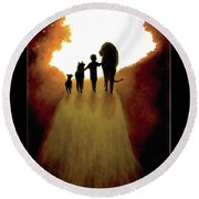 A Little Child Will Lead Them Round Beach Towel