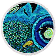 A Little Garden At The Edge Of The World Round Beach Towel