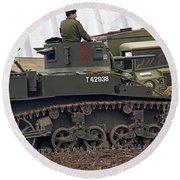 A Little Honey - M3 Stewart Light Tank Round Beach Towel